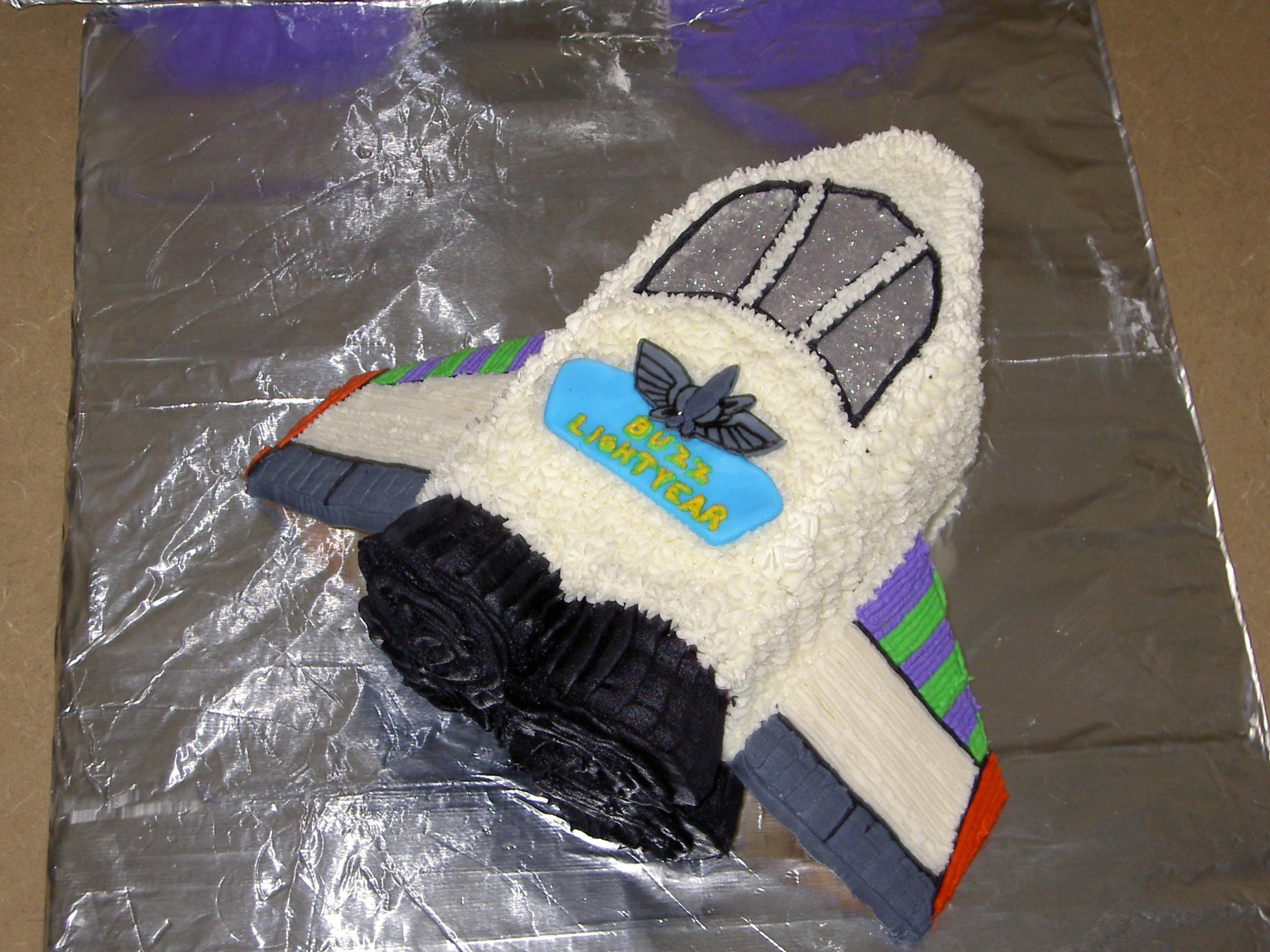 Buzz Lightyear Rocket Ship Cake